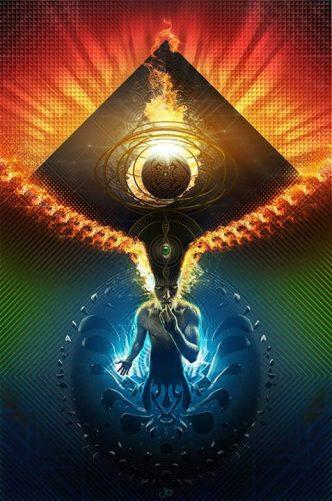 Divine Consciousness flows through me, from me, to me.